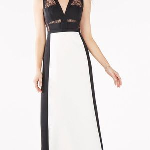 BCBG evening dress with lace